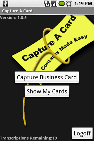 Take a picture of a business card and have to automatically copied into contacts affordable Screen Shot